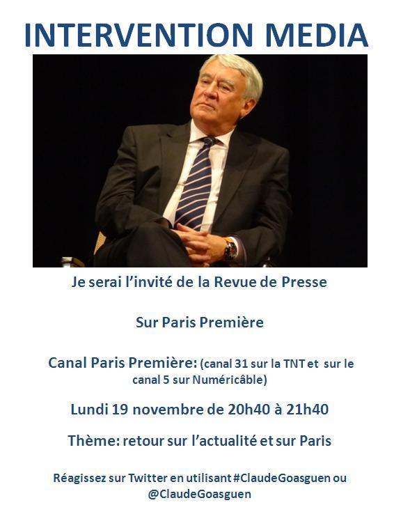 19 nov Paris Premiere