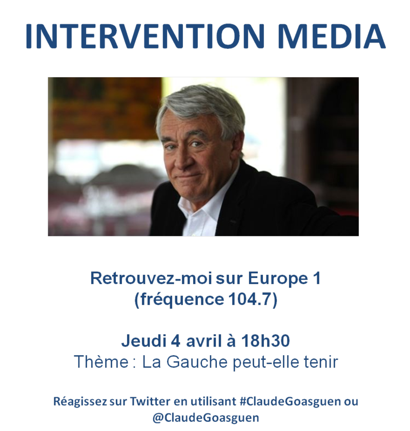 Intervention media europe 1