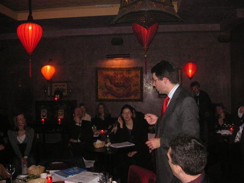 David Alphand, délégué UMP du XVIème Nord prend la parole